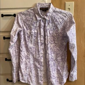 Ariaat pearl snap cowgirl shirt